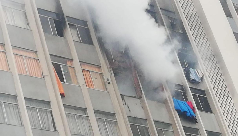 Incendio en Av. Abancay: diez personas fueron rescatadas de edificio