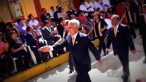 Presidente del Perú en aniversario del colegio 2 de Mayo de Caraz.