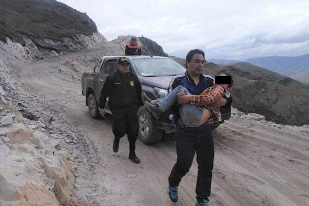 Niño de 7 años hizo posible la ayuda del accidente